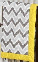 Bacati Mix N Match Zigzag Ikat Crib Comforter (Grey/Yellow)