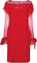Alberta Ferretti lace detail dress - women - Acetate/Viscose - 42