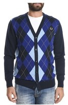 Fred Perry Men's Blue Wool Cardigan.
