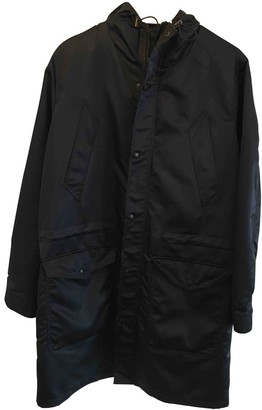 Ami Navy Synthetic Coats