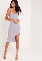 Missguided Strap Hem Detail Mini Dress Lilac