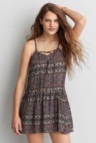 American Eagle Outfitters AE Lace-Up Babydoll Dress