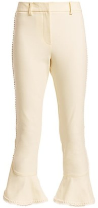 Derek Lam 10 Crosby Daria Ruffle Crop Flare Pants