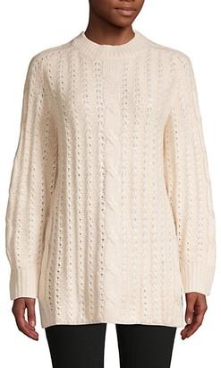 Avantlook Side-Split Cable-Knit Sweater