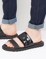 HUGO by BossDeight Leather Buckle Slider Sandals