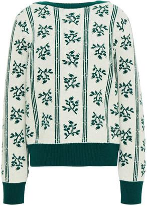 ALEXACHUNG Merino Wool Jacquard Sweater