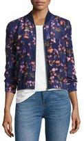 Rebecca Taylor Firework Floral Bomber Jacket, Multicolor