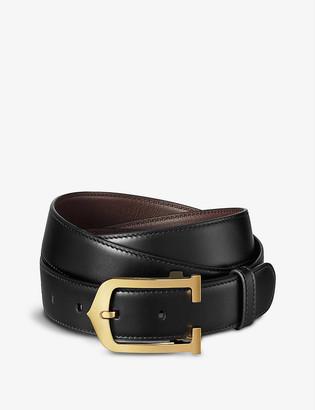Cartier Elongated C leather belt