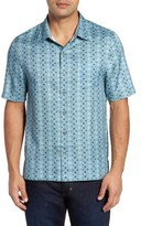 Nat Nast Men's Peak Classic Fit Silk Blend Camp Shirt