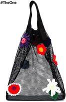 Christopher Kane crochet flower mesh shopper