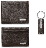 Calvin Klein Pebble Leather Wallet + Keychain 3 Piece Set