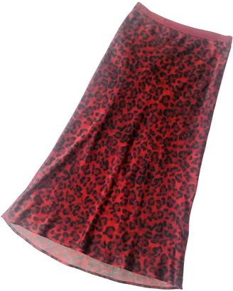 Anine Bing Burgundy Silk Skirts