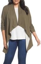 Plus Size Women's Caslon Knit Drape Front Jacket