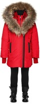 Mackage Leelee Red Winter Down Coat With Fur Hood (8-14 Yrs)