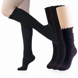 Youneedthat Women's Knit Slouch Knee High Socks Warmth Winter Boots Sock 6 to 10