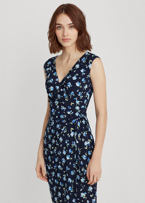 Ralph Lauren Floral Jersey Wrap-Style Dress