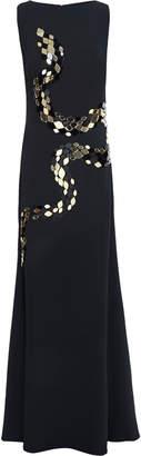 Roberto Cavalli Appliqued Crepe Gown