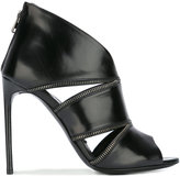 Tom Ford cut-out detail ankle boots - women - Calf Leather/Leather - 36
