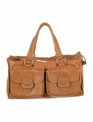 Celine Leather Pocket Tote gold