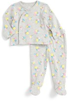 Infant Girl's Rosie Pope Kimono Top & Footed Pants Set