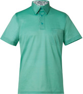 Brioni Aqua Green Oxford Piqué Polo Shirt