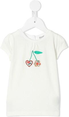 Bonpoint cherry-embroidered T-shirt