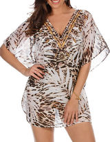 Miraclesuit Sheer Safari Embellished Cover Up Caftan
