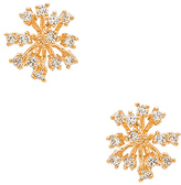 8 Other Reasons Starburst Earrings in Metallic Gold.