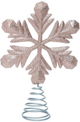Transpac Plastic Gold Christmas Glitter Snowflake Tree Topper