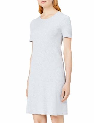Meraki Amazon Brand Women's Slim Fit Rib Summer T-Shirt Dress