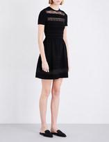 Oscar de la Renta Lace panelled knitted dress