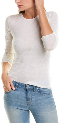 Vince Ribbed Sweater Wool Top