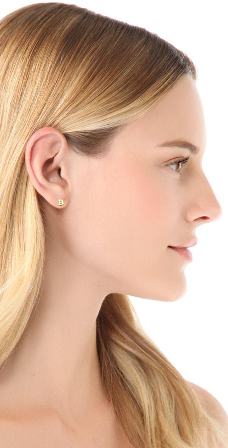 Jacquie Aiche JA Alphabet Single Earring