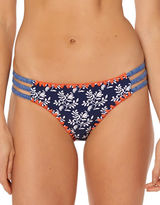 Jessica Simpson Floral-Print Striped Hipsters