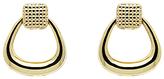 Monet Texture Knocker Drop Hoop Earrings, Gold