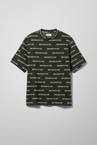 Weekday Len Sad Lines T-shirt - Black