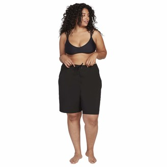 """Volcom Women's Plus Size Simply Solid 11"""" Shorts"""