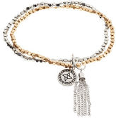 BCBGeneration Two Tone Set of Two Beaded Stretch Bracelets