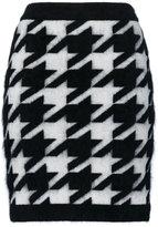 Balmain knitted Houndstooth skirt - women - Polyamide/Angora/Virgin Wool - 38