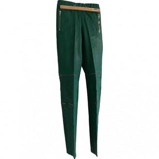 Joseph Green Leather Trousers
