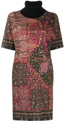 Etro Chunky Roll Neck Knitted Dress