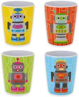 French Bull Robot Kids Juice Cups (Set of 4)