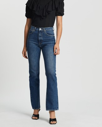 Mng Women's Blue Straight - Vintage Jeans - Size 34 at The Iconic