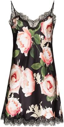 Sainted Sisters Floral Print Silk Slip