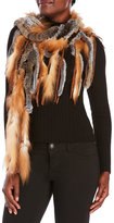 Dena Real Rabbit & Fox Fur Scarf
