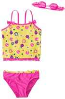 Jump N Splash Girls' Little Ladybug TwoPiece Swimsuit w/ Free Goggles (4-6X) - 8143024