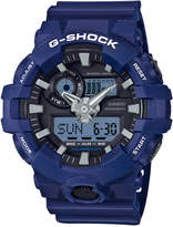 G-Shock Men's Analog-Digital Blue Resin Strap Watch 54mm GA700-2A