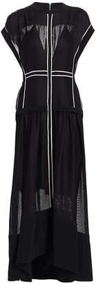 Proenza Schouler Sheer A-Line Midi Dress