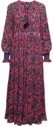 Derek Lam 10 Crosby Nemea Print Pleated Midi Dress