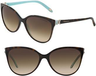 Tiffany & Co. 58mm Gradient Cat Eye Sunglasses